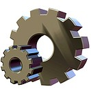 3D rendering of gears