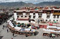 Tibetan Buddhism, Jokhang monastery, sacred path of Barkhor, historic district, Lhasa, Himalaya Range, central Tibet, Ue-Tsang, Tibet Autonomous Regio...