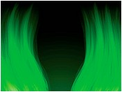 Vector _ Green Flames. Color and forms are editable.