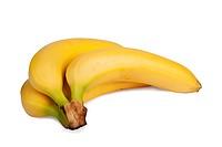 Fresh bananas isolated over white background