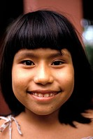 Peru, Iquitos. Portrait Of Young Girl
