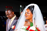 Bride and groom, wedding, Bamenda, Cameroon, Africa