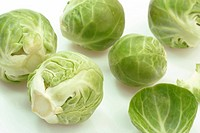 Brussels Sprouts in Detail on bright background