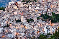 View over Ragusa Ibla, Sicily, Italy, Europe