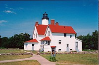 lighthouse located at Point Iroquois, Michigan, United States