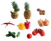 collection of images of fruits and vegetables