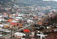 Romanian village landscape, a view from above