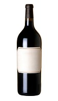 Bottle of wine isolated on 100 white background