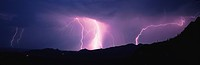 This is an electrical storm in the Tucson Mountains