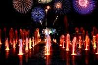 Fountain and Fireworks