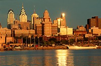 Skyline View of Philadelphia, Pennsylvania, view from Camden, New Jersey