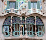 Facade Detail of Casa Battlo, Barcelona, Spain
