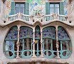 Facade Detail of Casa Battlo, Barcelona, Spain