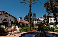 Spanish villa architecture of La Costa Spa & Golf Resort in Carlsbad, California