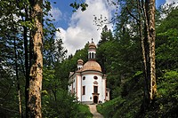 Unserer Lieben Frau am Kunterweg pilgrimage chapel, built between 1731 and 1733, Ramsau, Upper Bavaria, Bavaria, Germany, Europe