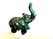 miniature elephant isolated