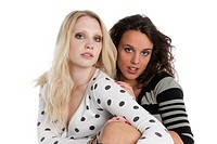 Two young women posing, portrait