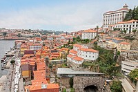 Old town of Porto from above, Ribeira quarter,Portugal