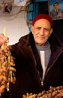 Testour, Tunisia. Muslim Man Selling Dates