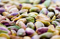 Bunch of pistachios, shallow focus