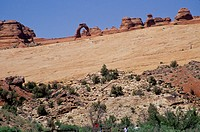 Utah. Arches National Park. Delicate Arch From Lower Delicate Arch Viewpoint.