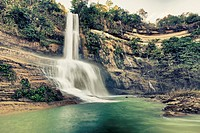 Beautiful waterfall vintage style. Bohol. Philippines