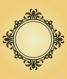 Vintage frame in victorian style for design as a background