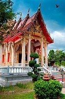 Wat Chalong most important buddist temple in Phuket, Thailand