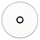 Single DVD / CD blank front, isolated on white