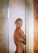 Woman in Steam Room
