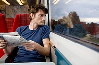 Young Man on Train