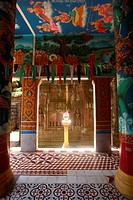 Interior of a Buddhist temple.