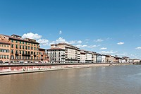 Buildings along Arno River, Florence, Italy