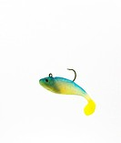 Blue and yellow artificial lure