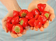 Handful Of Fresh Strawberries