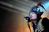 The Hague NL 24th June 2012 Parkpop Music Festival  Adam Ant  The dandy highwayman entertains The Hague