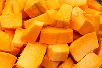 Slices of pumpkin.