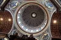 Ceiling of St. Peter´s Basilica. Vatican City