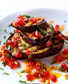Grilled mushroom and vegetables