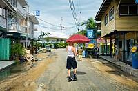 Bocas del Toro town, Colon island, Bocas del Toro province, Caribbean sea, Panama.