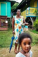 Bastimentos town, Bastimentos island, Bocas del Toro province, Caribbean sea, Panama.