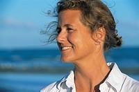 Woman Gazing Near Ocean