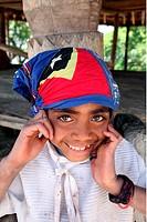 Kinder in einem Bauerndorf beim Bergdorf Maubisse suedlich von Dili in Ost Timor auf der in zwei getrennten Insel Timor in Asien.