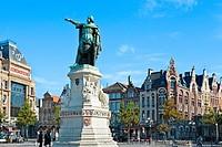 Jacob Van Artevelde, Vrijdag Markt - Market Square, Ghent, Flanders, Belgium.