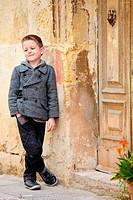 Junge Portrait im Freien