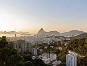 View over Flamengo towards Sugarloaf Mountain, Rio de Janeiro, Brazil