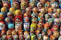 Matryoshka wooden figures, Kiev, Ukraine