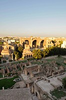 View over Roman Forum towards Basilica of Maxentius and Constantine, Rome, Italy