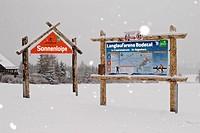 Cross_Country skiing area Bodetal, Thale_Friedrichsbrunn, Harz District, Harz, Saxony_Anhalt, Germany / Landlaufarena Bodetal, Thale_Friedrichsbrunn, ...