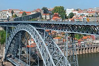 Dom Luis I bridge, Porto, Portugal,